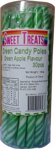 green-candy-poles
