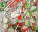 lollipops flat pops rainbow 1kg ll