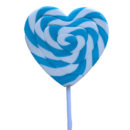 Lollipops Mega Blue Heart 85g
