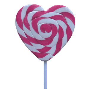 Lollipops Mega Pink Heart 85g