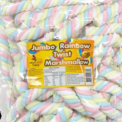 Marshmallow Jumbo Rainbow Twist 1kg