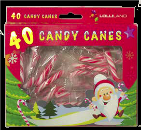 Christmas Mini Candy Canes 40 Pack 160g