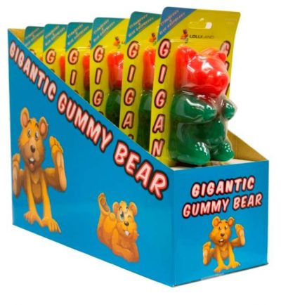 Giant Gummi Bear Lollipops 227g