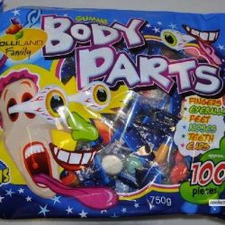 Gummi Body Parts 750g