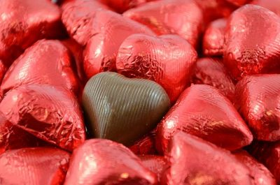 Chocolate Hearts Red 500g