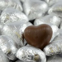 Chocolate Hearts Silver 500g