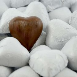 Chocolate Hearts White 500g