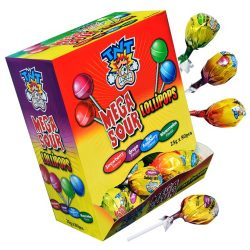 TNT Mega Sour Lollipops 80 Pieces