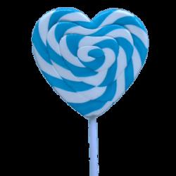 Lollipops Mega Swirl Blue Heart 85gx1