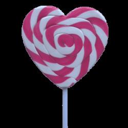 Lollipops Mega Swirl Pink Heart 85gx1