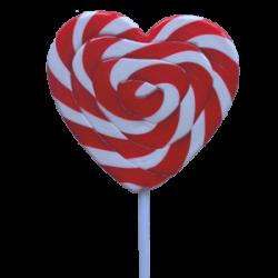 Lollipops Mega Swirl Red Heart 85g x1