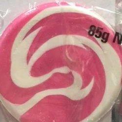 Lollipops Mega Swirl Pink 85g x1