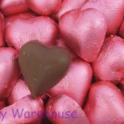 Chocolate Hearts Pink 500g