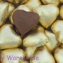Chocolate Hearts Gold 500g
