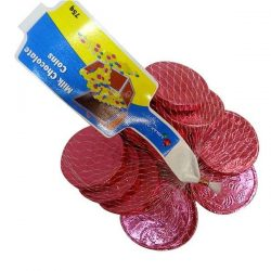 Milk Chocolate Coins Pink 75g
