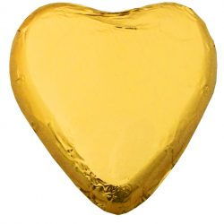 Chocolate Hearts Gold 30g - 5 pack