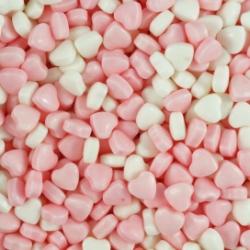 Candy Pink and White Hearts 1kg