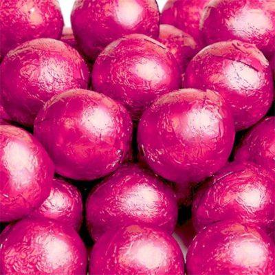 Chocolate Balls Pink Foil 500g
