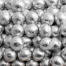 Chocolate Balls Silver Foil 500g