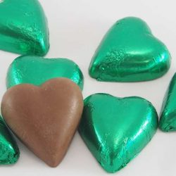 Chocolate Hearts Green 500g