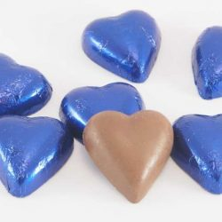 Chocolate Hearts Blue Royal 500g