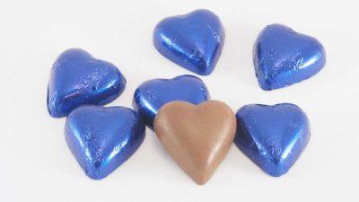 Chocolate Hearts Blue Royal 500g