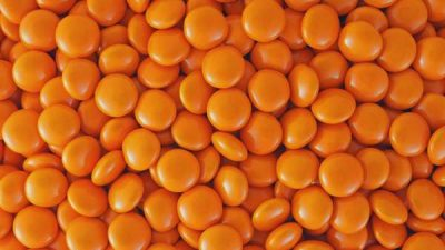 Choc Buttons Orange 1kg