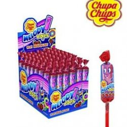 Chupa Chups Melody Pops Strawberry 48 Pcs Carton