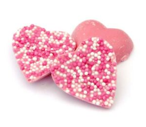 Pink Speckled Choc Hearts Kingsway 500g