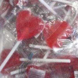 Lollipops Red Heart 100