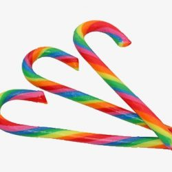 Christmas Candy Canes Rainbow Mini 100 Pack