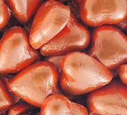 Chocolate Hearts Bronze Orange 500g