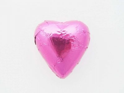 Chocolate Heart Hot Pink 500g