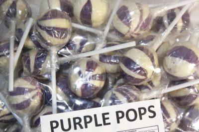 Lollipops Purple Ball Pops 1kg