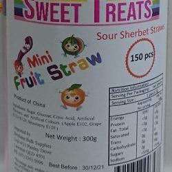 Sour Sherbet Straws 150 Pcs