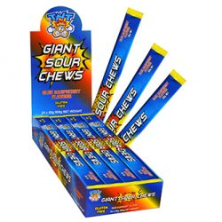 TNT Giants Sour Chews Blue Raspberry 24 Box
